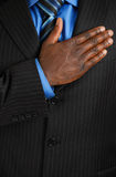 Business man pledging Royalty Free Stock Photography