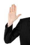 Business man pledging Royalty Free Stock Photo