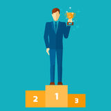 Business Man On Podium Royalty Free Stock Photos