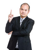 Business man point up Stock Photo