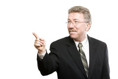 Business man pointing stock images