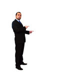 Business man pointing Royalty Free Stock Photo
