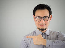 Business man pointing. Royalty Free Stock Images