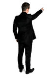 Business man pointing back Stock Photo