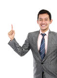 Business man pointing at blank space Royalty Free Stock Photo