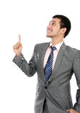 Business man pointing at blank space Royalty Free Stock Photography