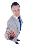 Business man pointing at camera Stock Image