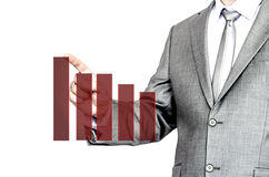 Business man pointing at chart Royalty Free Stock Images
