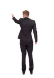 Business man pointing finger Royalty Free Stock Photos