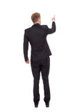 Business man pointing finger Royalty Free Stock Photo