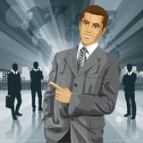 Business Man With Pointing Finger Royalty Free Stock Images