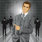 Business Man With Pointing Finger Stock Photo