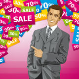 Business Man With Pointing Finger Stock Image