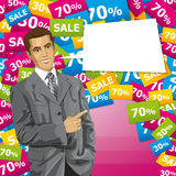 Business Man With Pointing Finger Stock Images
