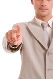 Business man, pointing forward Stock Image