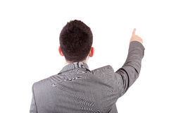 Business man, pointing forward Royalty Free Stock Images