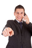 Business man, pointing forward Stock Photos