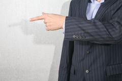 Business man pointing  his finger Stock Photography