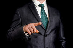 Business man is pointing his finger at you Stock Images