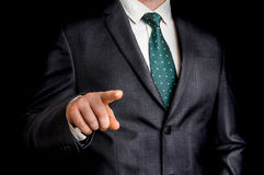 Business man is pointing his finger at you Stock Image