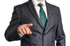 Business man is pointing his finger at you Stock Photos
