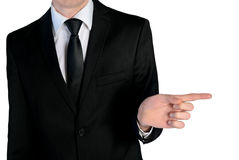 Business man pointing Stock Image