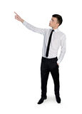Business man pointing Stock Photo