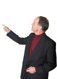 Business man pointing in presentation Stock Photography