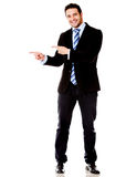 Business man pointing something Stock Photography