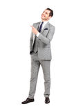 Business man pointing at something interesting Stock Photography