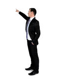 Business man pointing something Royalty Free Stock Images