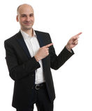 Business man pointing something Stock Images