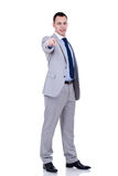 Business man pointing to the camera Stock Photos