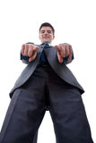 Business man pointing to camera Stock Photo