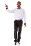 Business man pointing to the side Stock Image