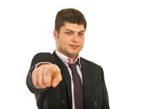 Business man pointing to you Royalty Free Stock Photography