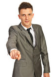 Business man pointing to you Stock Photos