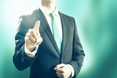 Business man pointing towards camera Royalty Free Stock Photography