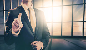 Business man pointing towards camera Royalty Free Stock Images