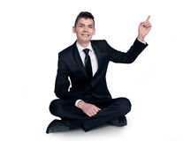 Business man pointing Stock Photography