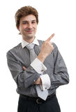 Business man pointing up finger Royalty Free Stock Image