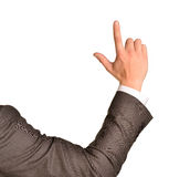 Business man pointing up finger blank copy space Stock Photography