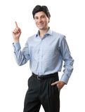 Business man pointing up finger Royalty Free Stock Photo