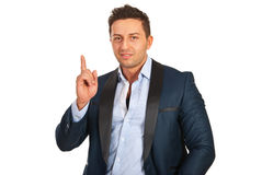 Business man pointing up Stock Image