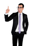 Business man pointing up Stock Photo