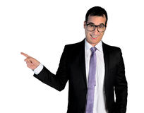 Business man pointing up Royalty Free Stock Photos