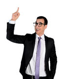 Business man pointing up Royalty Free Stock Photography