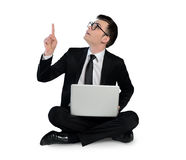 Business man pointing up Royalty Free Stock Image