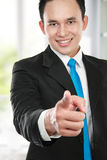 Business man pointing at you Royalty Free Stock Images