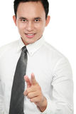 Business man pointing at you Stock Image